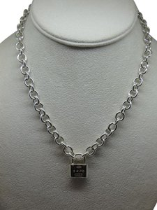 Tiffany & Co. Tiffany 1837 Padlock Necklace in sterling silver