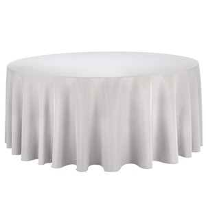 8 - Grey Polyester Tablecloths And 80 Grey Polyester Napkins