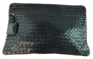 Bottega Veneta Woven Black Clutch