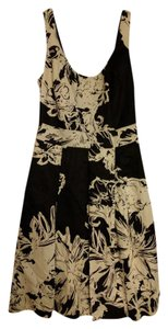 White House | Black Market And Floral Tea Length Dress