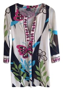 Olian Maternity Butterfly & Flower Graphic Jersey Knit Tunic