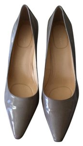 Calvin Klein Classic Calvins Patent Leather New Taupe Pumps