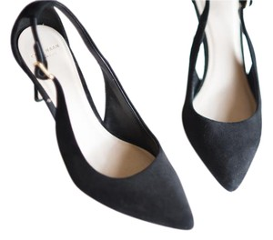 Cole Haan Suede Heels Black Pumps