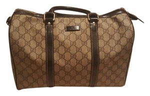 Gucci Boston Handbag Leather Satchel in Brown