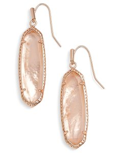 Kendra Scott NEW Layla Oval Drop Earrings, Peach Illusion, Rose Gold, 4217713437