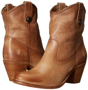 Frye Leather Leather Short Beige Boots