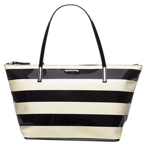 Kate Spade Satchel Tote in Black Cream