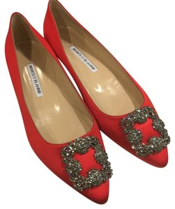 Manolo Blahnik Red Flats