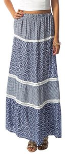 Other Maxi Skirt blue/white
