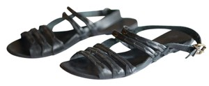 Ecote Leather Black Sandals