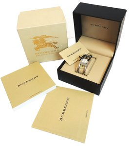 Burberry Burberry Silver Cuff Bracelet Bangle Lady's Watch BU4908