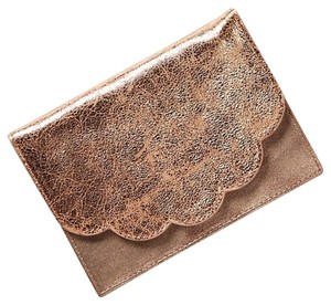 Anthropologie NWT Rosegold Scalloped Wallet