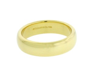 Tiffany & Co. Tiffany & Co 6mm Wide Wedding Band Ring In 18k Yellow Gold Size 9.25