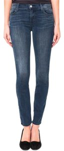 J Brand Soft Stretchy Mid-rise Ankle Skinny Jeans-Medium Wash