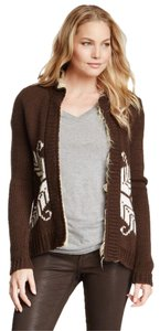 Anthropologie Faux Fur Patterned Willow & Clay Cardigan