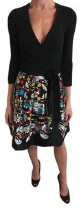 Diane von Furstenberg short dress Blk/Multi on Tradesy