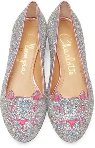 Charlotte Olympia SILVER Flats