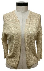 Silver House Vintage Cardigan Sequins Wool Sweater