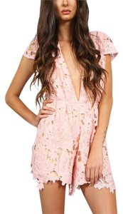 Southern Girl Fashion Bohemian Festival Winter Fall Floral Lace Inset Nude Lined Playsuit Eyelet V Neck Dress