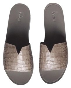 Vince Croc Embossed Fall Gray / Taupe Sandals