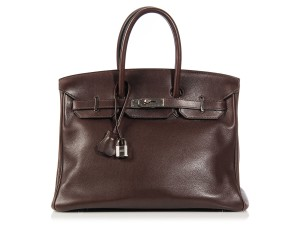 Hermès Brown Hr.k1003.01 Evergrain Leather Palladium Satchel
