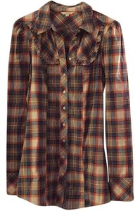 Rubbish Button Down Shirt Plaid