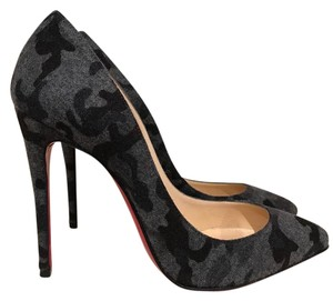 Christian Louboutin Pigalle Follies Stiletto Flannel Camouflage black Pumps