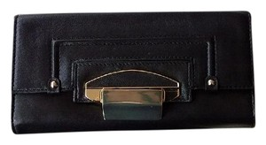 Kooba Wallet Leather Hardware black and gold Clutch