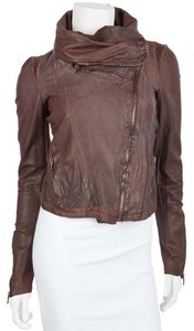 Urban Zen Reddish Brown Leather Jacket
