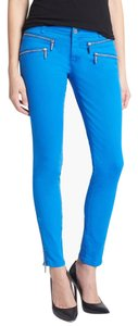 Michael Kors Color-blocking City Chic Work Skinny Pants Blue