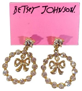 Betsey Johnson Dangling Bow with Rhinestones