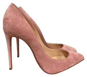 Christian Louboutin Pigalle Follies Stiletto Suede Rose Rosnard Pumps