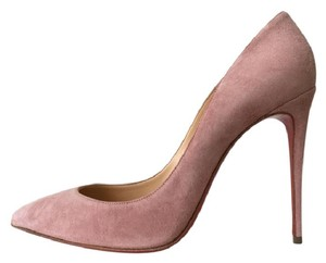 Christian Louboutin Suede So Kate Ronsard Pigalle Follies Pink Pumps