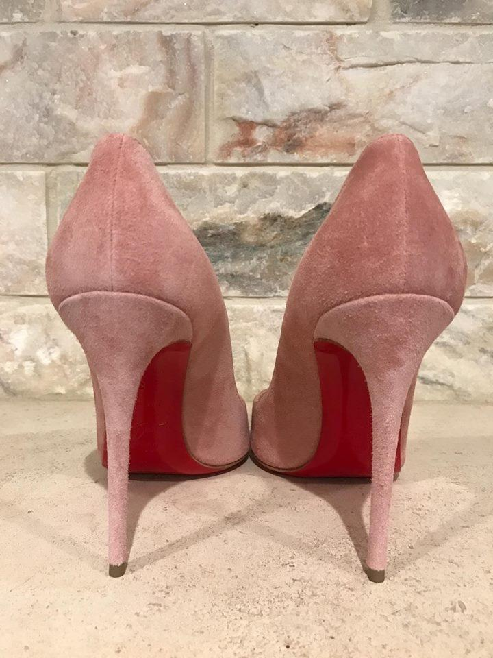 0218c617a2c Christian Louboutin Pink Pigalle Follies 100 Veau Velours Pumps Size US 9.5  Regular (M, B)