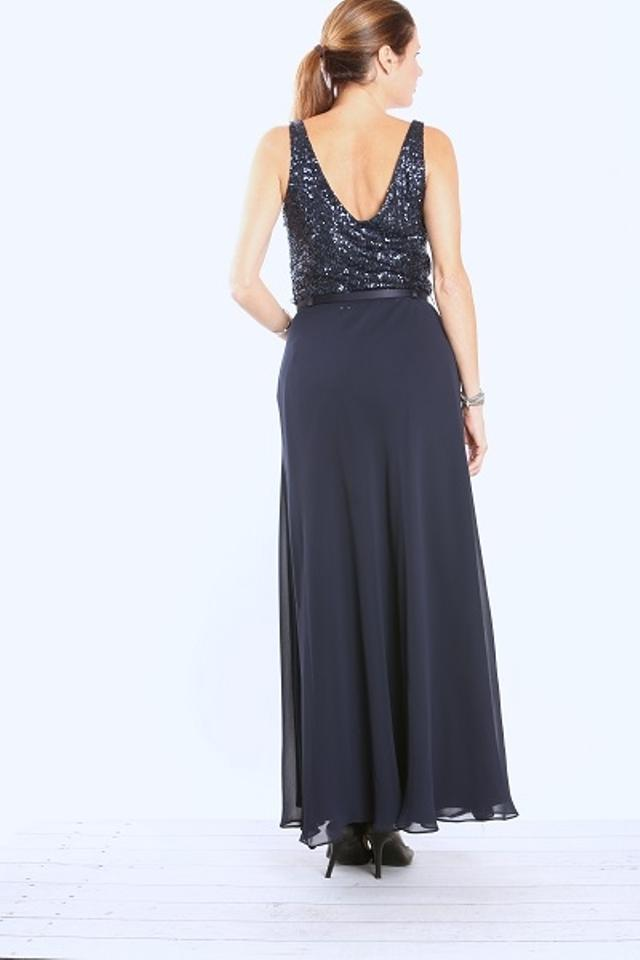 Ralph Lauren Navy Evening Gown with Sequined Bodice Long Formal ...