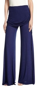 Young Fabulous & Broke Skirted Bohemian Stretchy Elastic Waist Yoga Baggy Pants Blue