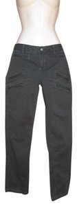 Athleta Skinny Cargo Cotton Stretch Skinny Pants Faded Black