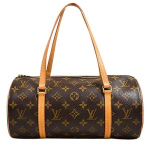 Louis Vuitton Papillon 30 Tan Coated Canvas Monogram Shoulder Bag