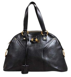 Other Yves Saint Laurent Rive Dark Ghw Large Muse Satchel in Brown