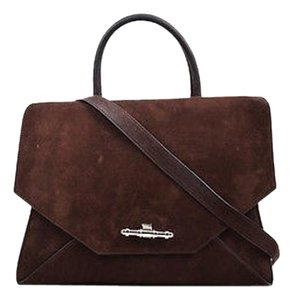 Givenchy Chocolate Bull Leather Top Handle Obsedia Satchel in Brown