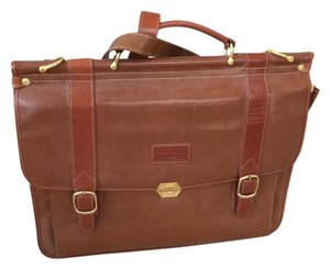 Rachelle Brief Case Leather tan Messenger Bag
