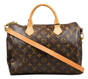 Louis Vuitton Ebene Canvas Monogram Speedy Bandoliere 30cm Tote in Brown