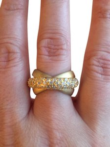 Unknown Brushed Gold Tone Ring