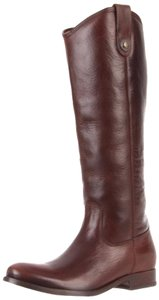 Frye Button Melissa Leather Dark Brown Boots