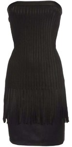 SuperTrash Little Black Corse Fringe Classy Sexy Dress