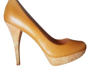 Ava & Aiden Stilletos Caramel Pumps