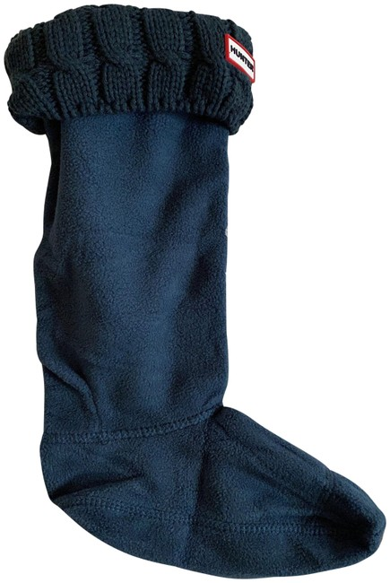 Item - Ocean Green Boot Six Stitch Cable Socks For Tall Boots Medium