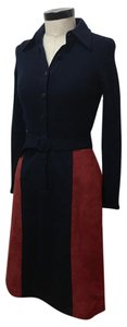 Ciao Bella Vinage Suede Wool Dress