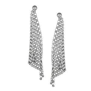Michael Kors Michael Kors Silver Park Avenue Mesh Crystal Earrings MKJ4944