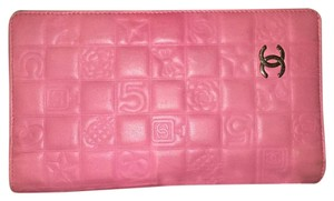 Chanel Chanel Pink Lambskin Leather Wallet